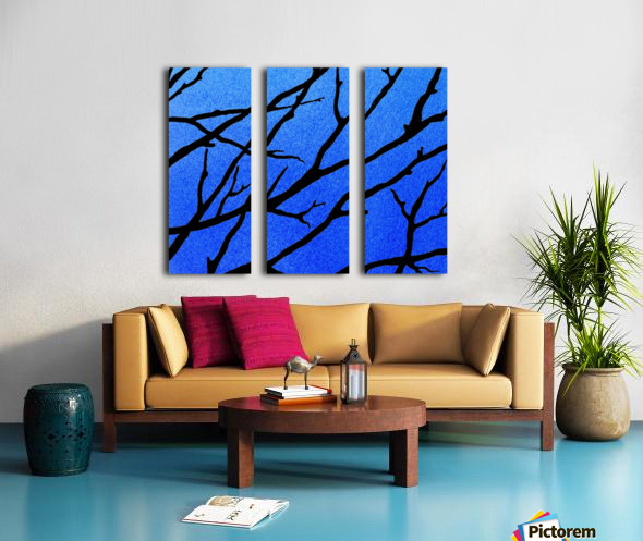 Ultramarine Forest Winter Blues II Split Canvas print