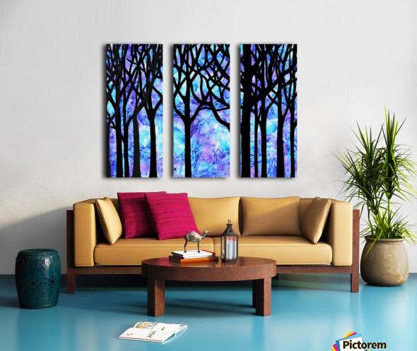 Frozen Forest Split Canvas print