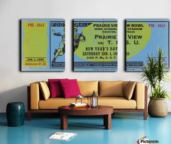 1955 Prairie View AM Panthers vs. Texas Southern Tigers Ticket Stub Art  Split Canvas print