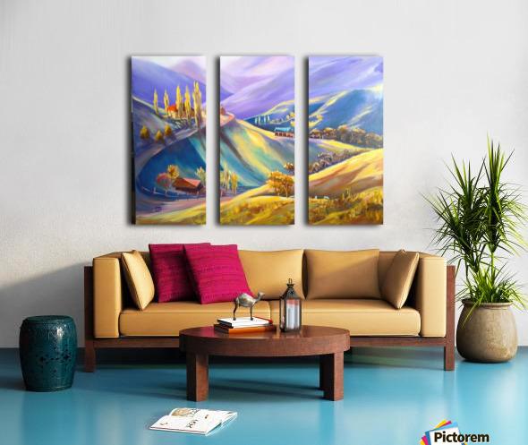 Moeciu landscape  Split Canvas print