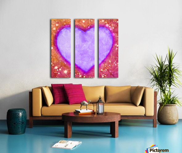 Vibrant Love Digital Art Collage Split Canvas print