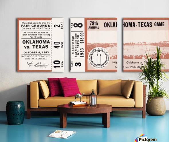 1983 Oklahoma Sooners vs. Texas Longhorns Split Canvas print