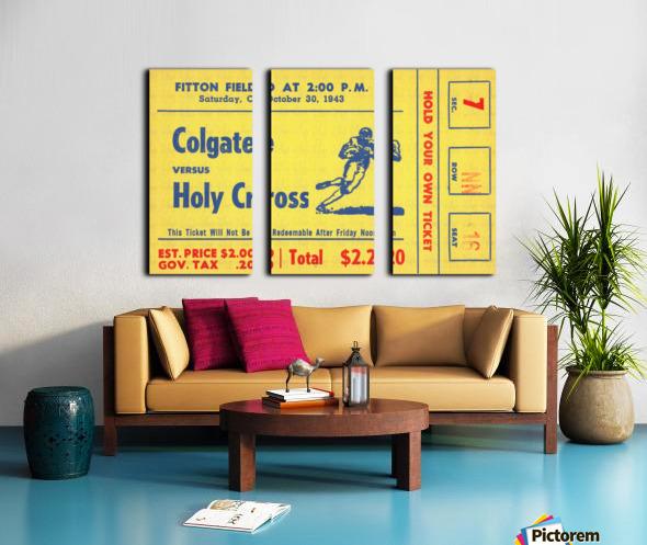 1943 Colgate vs. Holy Cross Split Canvas print