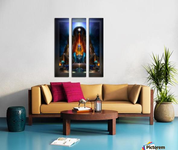 The Golden Vision Of Arsencia Fractal Art Composition Split Canvas print