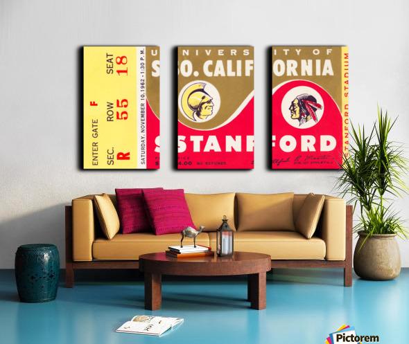 1962 Stanford Indians vs. USC Trojans Split Canvas print