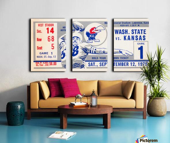 1970 Kansas Jayhawks vs. Washington State Cougars Split Canvas print
