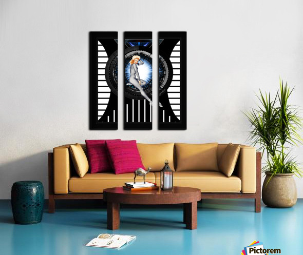Sitting Pretty With Tech by Xzendor7 Digital Art Split Canvas print