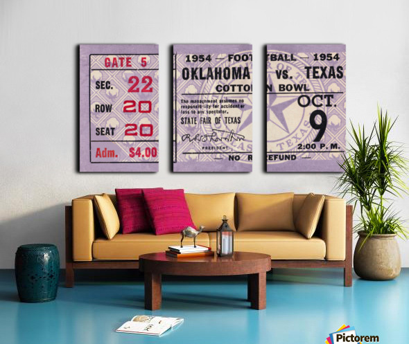 1954 Oklahoma Sooners vs. Texas Longhorns Split Canvas print