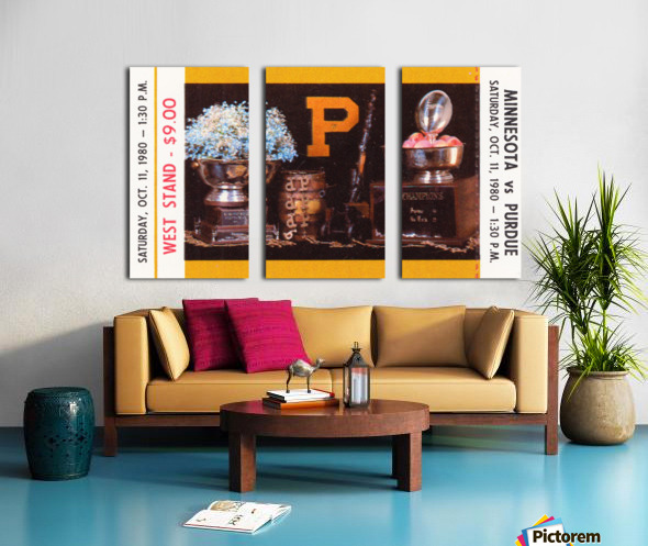 1980 Purdue Boilermakers vs. Minnesota Golden Gophers Split Canvas print