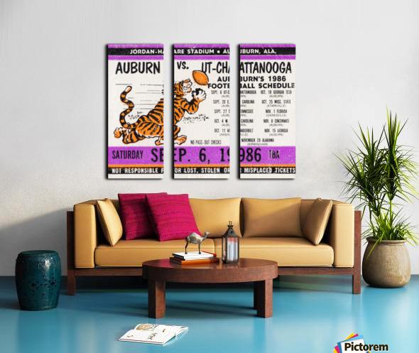 1986 Auburn Tigers vs. Chattanooga Mocs  Split Canvas print