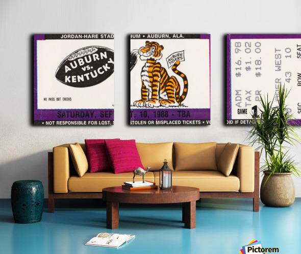 1988 Auburn Tigers vs. Kentucky Wildcats Split Canvas print