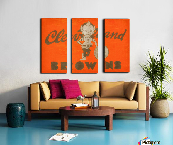 Vintage Cleveland Browns Wall Art Split Canvas print