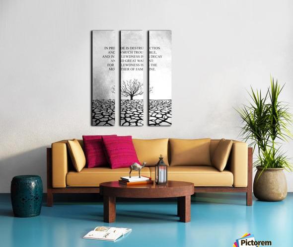 Tobit Parched Land Motivational Wall Art Split Canvas print