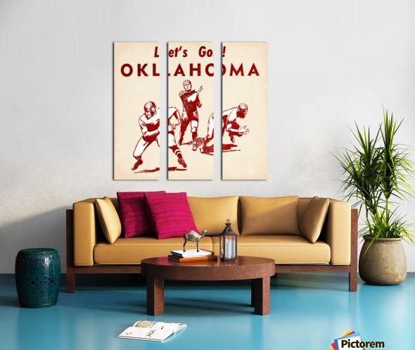 1952 Vintage Oklahoma Football Art Split Canvas print