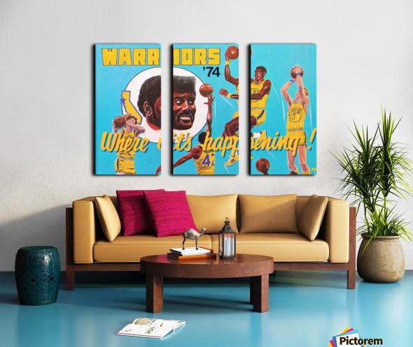 1974 Golden State Warriors Retro Remix Art Split Canvas print