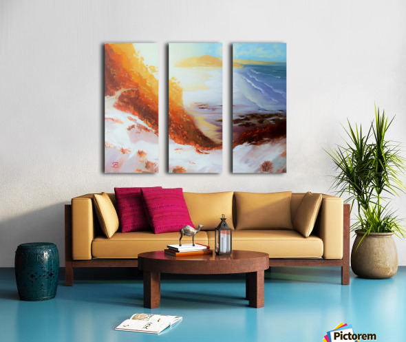 MiraculoussunsetProctorBeach Split Canvas print