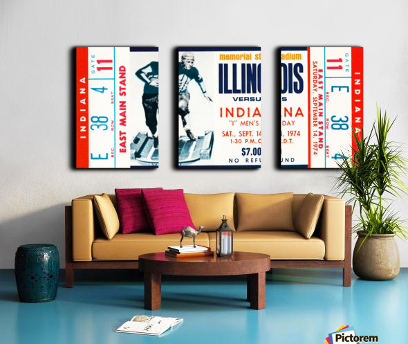 1974 Indiana Hoosiers vs. Illinois Fighting Illini Split Canvas print