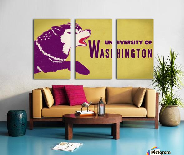 1950 Washington Husky Ticket Remix Art Split Canvas print