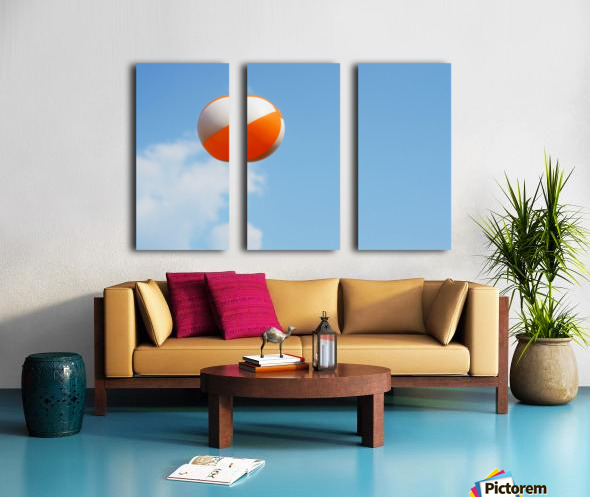 Beach ball on top of cloud Split Canvas print
