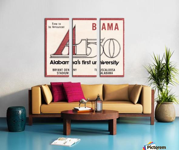 1981 Alabama Football Ticket Stub Art Split Canvas print