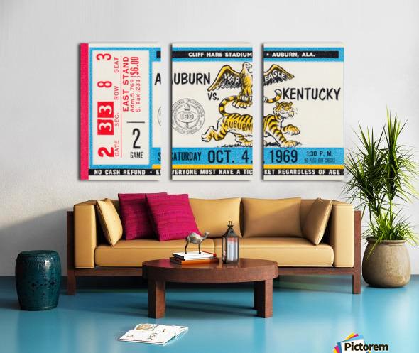 1969 Kentucky Wildcats vs. Auburn Tigers Split Canvas print