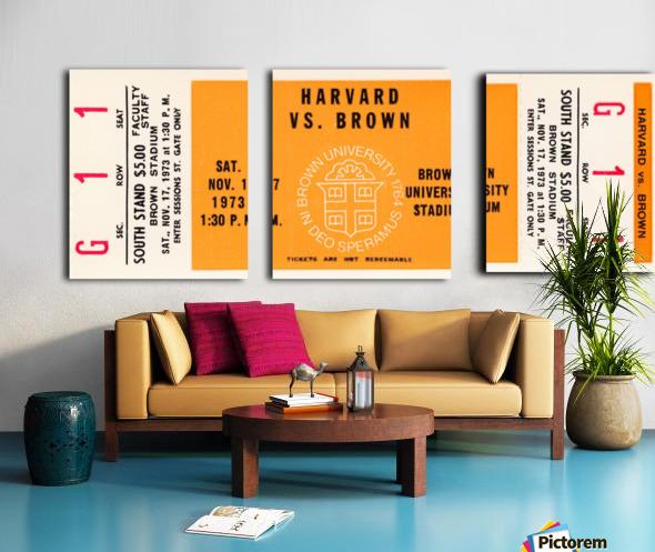 1973 Brown Bears vs. Harvard Crimson Split Canvas print