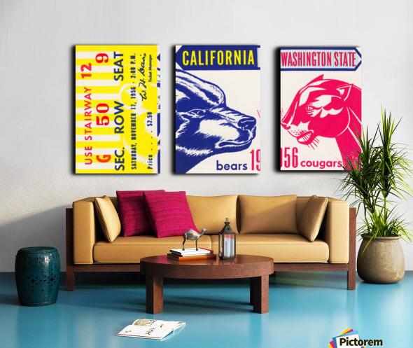 1956 Washington State Cougars vs. Cal Bears Split Canvas print