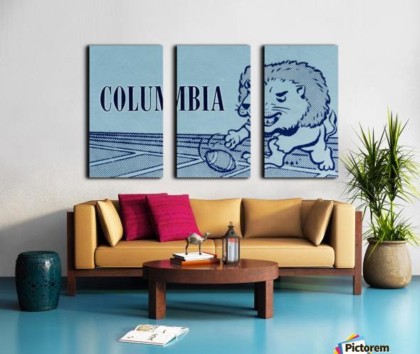 1961 Columbia Lions Football Ticket Stub Remix Art Split Canvas print