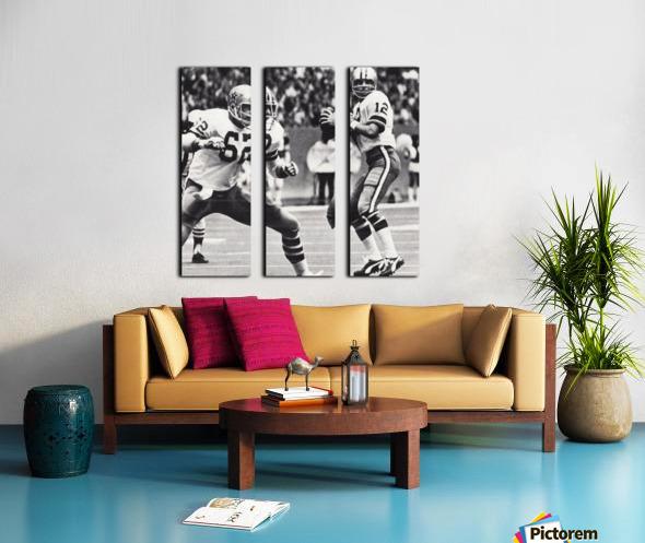Retro Dallas Cowboys Roger Staubach Photo Art Split Canvas print