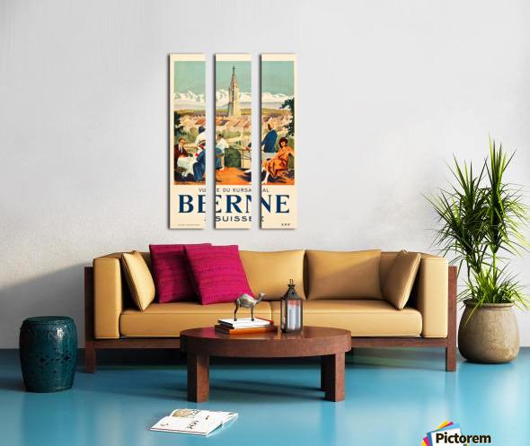 Bern, Switzerland Travel Poster Split Canvas print