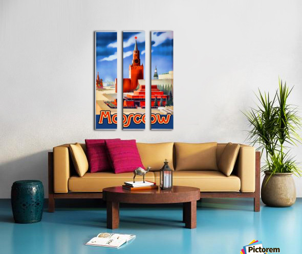 Imperial Airways travel poster for Moscow Split Canvas print