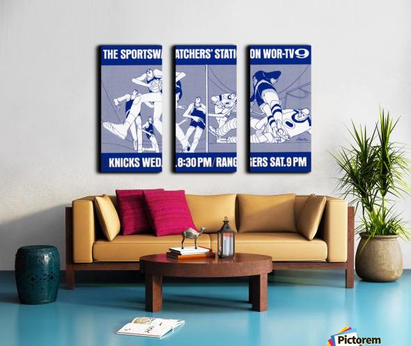 1967 New York Knicks and Rangers WOR TV9 Ad Split Canvas print