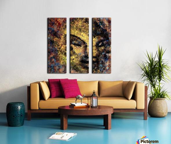 Emerging Buddha Split Canvas print