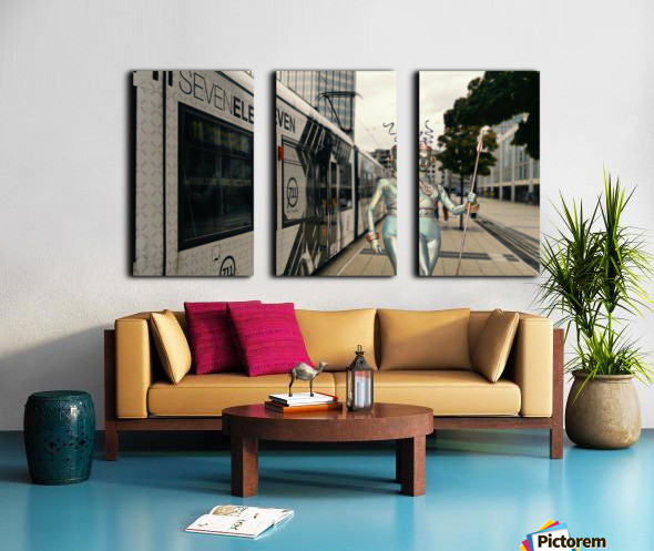Visitor from Outer Space Split Canvas print