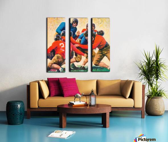 1937 Vintage Football Art Split Canvas print