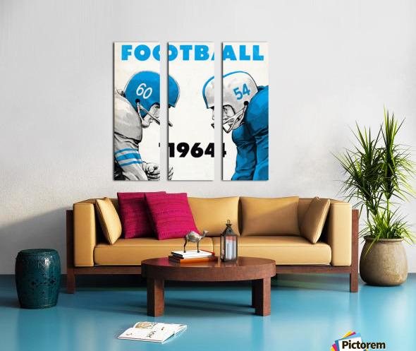 1964 Linemen Football Art Split Canvas print
