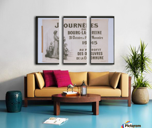 Vintage---Journey-in-France Split Canvas print