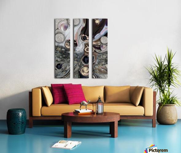 Juxtaposed Compilation Constructed Split Canvas print