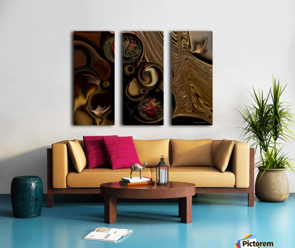 Information & Meditation Split Canvas print