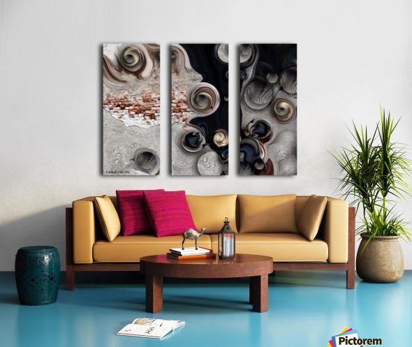 Meditative Metamorphosis Split Canvas print