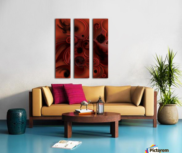 Sketch of Aesthetic Dimensionality Split Canvas print