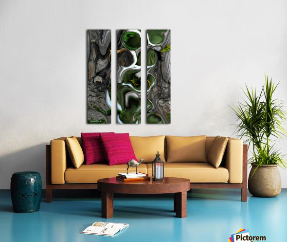 The Evolving Dimensionality Split Canvas print