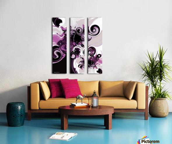Vision of Emotional Information Split Canvas print