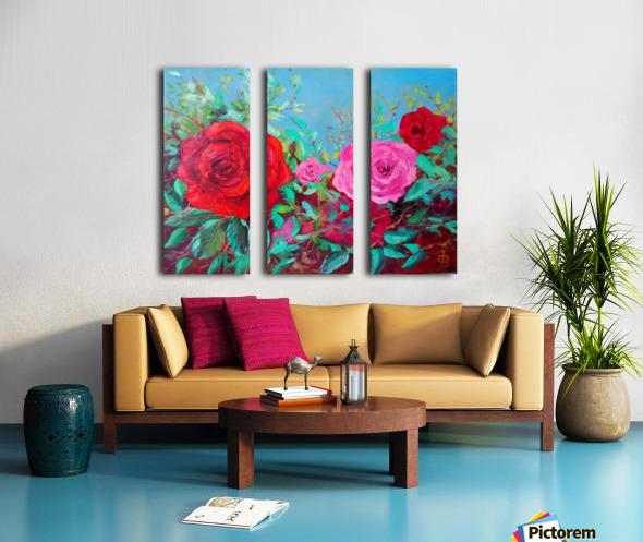 Roses challenge.  Split Canvas print
