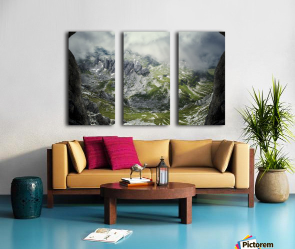 Alpine gates  Split Canvas print