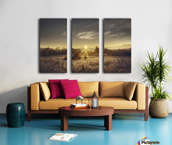 Zen morning Split Canvas print