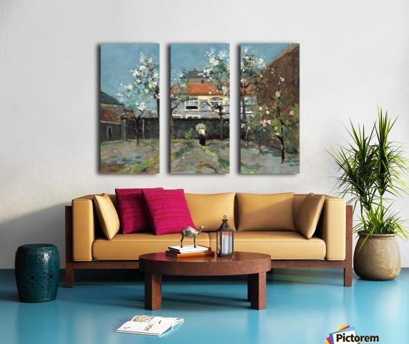 The back garden Split Canvas print