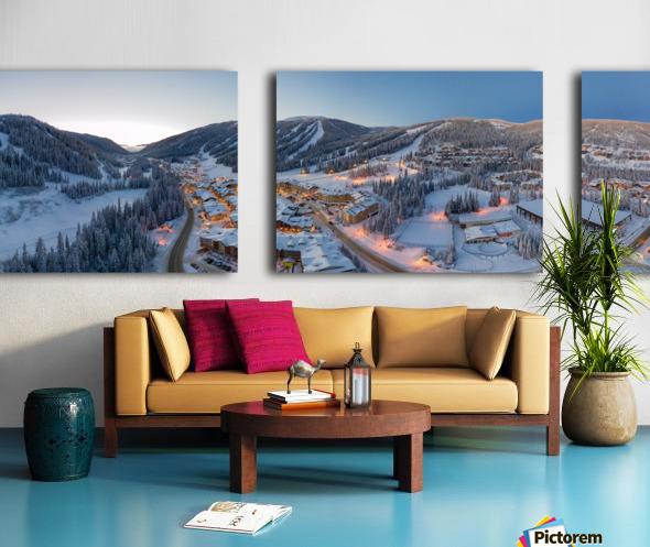West to East Split Canvas print