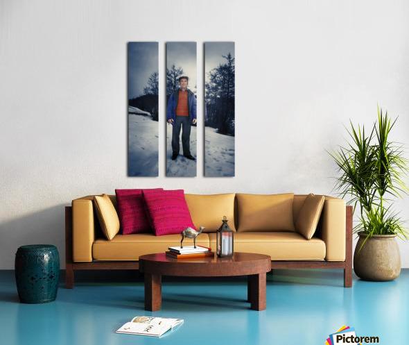 Sunday in winter Split Canvas print