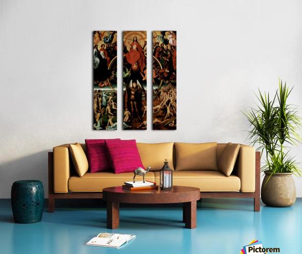 The Last Judgment, triptych, central panel Split Canvas print